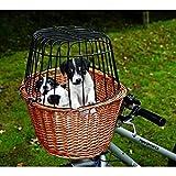 Trixie Fahrradkorb Weide mit Gitter