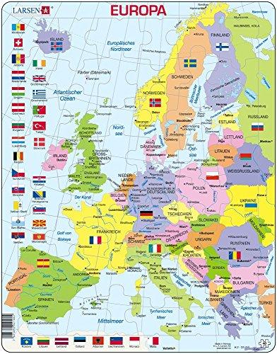 Scheda Larsen Puzzle Regioni d'Europa