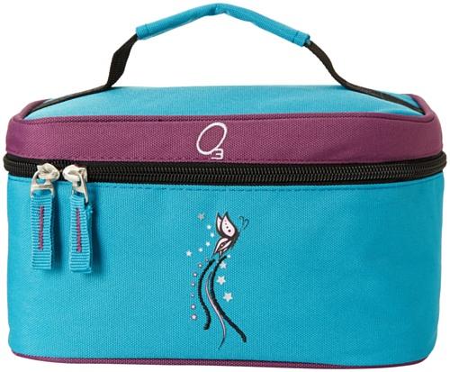 Obersee - Neceser para productos de bebé, diseño de mariposa, color turquesa