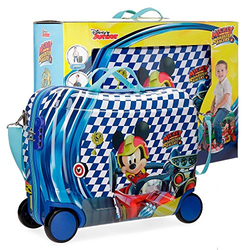 Mickey Race Valigia per bambini, 50 cm, 34 liters, Multicolore (Multicolor)
