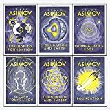 isaac asimov foundation series 6 books collection set - (foundation,foundation and empire,second foundation,prelude to foundation,foundation and earth,foundation's edge)
