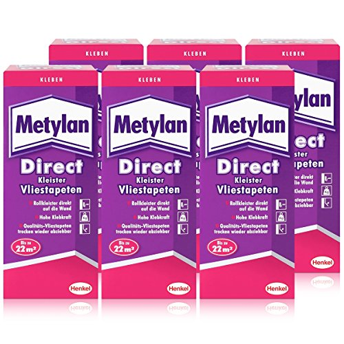 Henkel Metylan Direct Tapetenkleister für Vlies-Tapeten 200g ( 6er Pack )