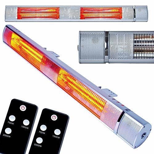 MYLEK 3kW Electric Patio Heater IP65 Rated Waterproof & Rustproof