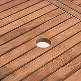 Estexo® Akazienholz Gartenmöbel Set – klappbar - 4