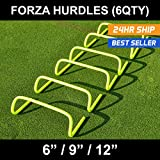 """FORZA Speed / Agility Training Hurdles [Pack of 6] - Choose Your Size! [Net World Sports] (6"""" Hurdles)"""