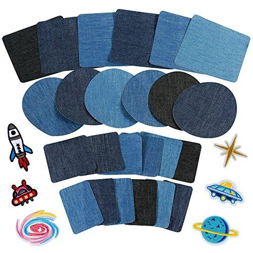 Anpro Patches zum Aufbügeln, 30 Stück Patch Sticker,...
