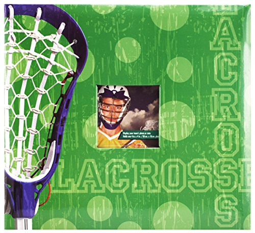 MCS MBI 13.5 x 12.5 Inch Lacrosse Theme Scrapbook Album with 12x12 Inch Pages with Photo Opening (865411)