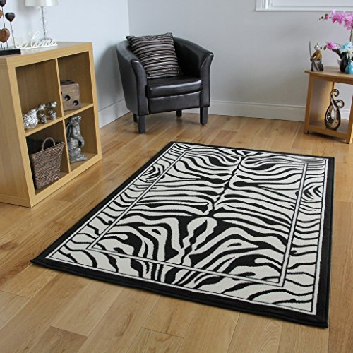 The Rug House Tappeto zebrato, 6 misure disponibili, colore: Bianco/Nero