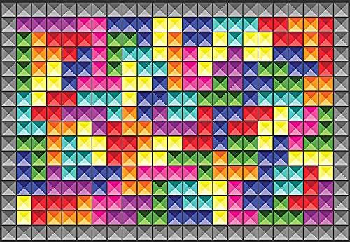 Carta Da Parati 3D Tetris Carta Da Parati Adesivo Murale Soggiorno Camera Da Letto Tv Divano Sfondo...