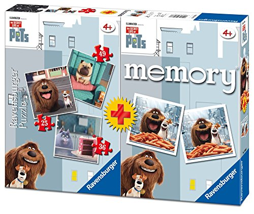 Ravensburger Italy The Sectret Life of Pets Puzzle e Memory, 06872 2