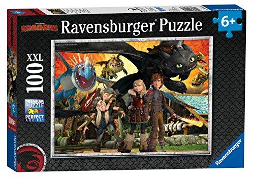 Ravensburger Italy Dragons Puzzle per bambini-100 Pezzi XXL,, 10918