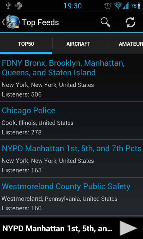 MyScanner - Police Radio Scanner Screenshot