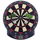MCTECH® Profi Elektronische Dartscheibe Dartboard Dartona Soft-Dartpfeile Steeldart 6 Dartfeile + 70 Varianten