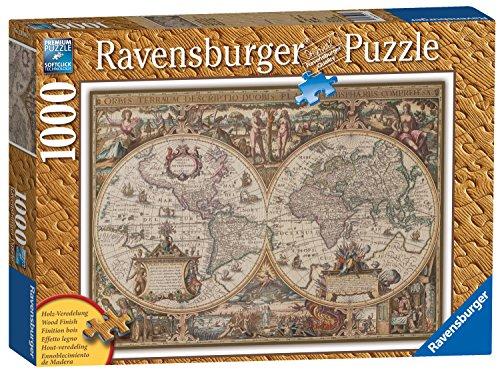 Ravensburger Italy Antique World Map-Struttura in Legno, Puzzle 1000 Pezzi, 19004 1