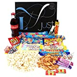 Retro Sweets Gift Hamper with a Twist - Just Treats Lunar Gift Box: Jam Packed with the Best Retro Sweets and a Glass Coke Bottle! Great Easter Gift for Him and Her, Boys & Girls, Mums & Dads, Men & Women