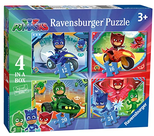 Ravensburger UK 6974 PJ Masks 4Puzzle in Una Scatola (12, 16, 20, 24PC)
