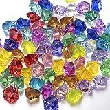 60 Diamantes de Acrílico Multicolores Joyas del Tesoro del Pirata para Fiesta Utilería Rellenos de Vaso / Decoraciones de Boda FUNLAVIE