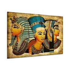 Arte de la Pared de la Lona,   Antiguo Egipcio Mural Completo de la Pintura al óleo 40 * 60Cm Egipto Pintura de la Pared Oil-Picture Completo de la Figura Pharaoh Home Decor