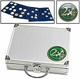 SAFE 174 Smart ALU Münzkoffer 6 Tableaus 6326 für 210 Münzen bis 26 mm