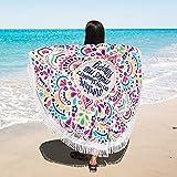 DASKING Strandtuch Yoga Tuch Sarong Pareo großes Wickeltuch Wandbild Wandbehang Rund Beach Überwurf Strand Tuch Holiday Beach towel (Mehrfarbig)