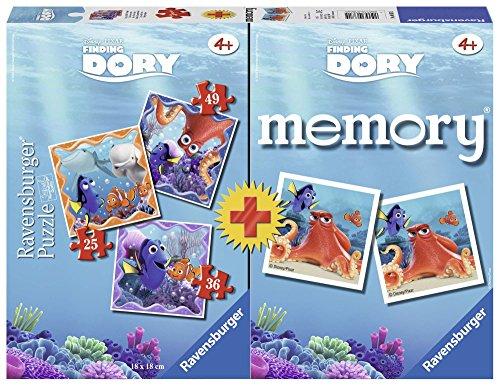 Ravensburger Italy alla Ricerca di Dory Puzzle e Memory, 06871 5