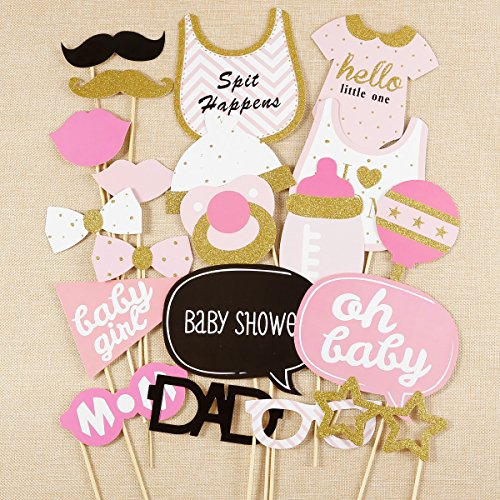 20x photo booth accessoire de f te pour fille b b bapt me baby shower organise ta f te au. Black Bedroom Furniture Sets. Home Design Ideas