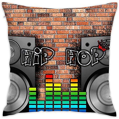 Fodera per Cuscino da tiro Hip Hop Music Bed Divano Federa per Cuscino Cuscino per Dormire Cuscino...