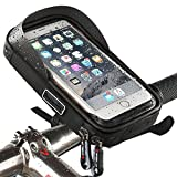 support de fixation de téléphone étanche pour guidon de vélo avec...