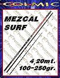 Caña de pescar Colmic Mezcal Surf casting de 4,20 m,100-250g, dividida en 3 secciones