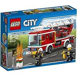 Lego 60107 City Feuerwehrfahrzeug mit fahrbarer Leiter, Cooles Spielzeug für Kinder