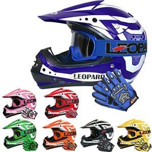 Leopard LEO-X17 Kinder Motocross MX Helm { Motorradhelm + Handschuhe + Brille} ECE Genehmigt Crosshelm Kinderquad Off Road Enduro Sport 3
