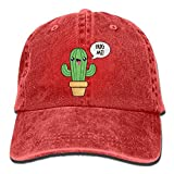 Gorra Cactus Rojo Intenso Con Cactus Hug Me Unisex