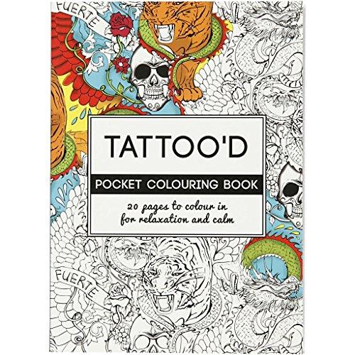 Libro antistress da colorare, misura 10,5x14,5 cm, 20 cm, Tattoo'd, 1pz