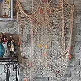 Miyare Red pesca decoracion Decorativa Estilo Mediterráneo Cosido a Mano (Blanco)