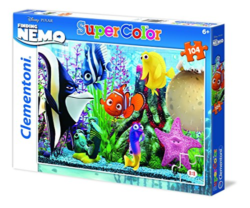 Clementoni 27883 - Nemo Fish Are Friends Not Food - Puzzle da 104 Pezzi