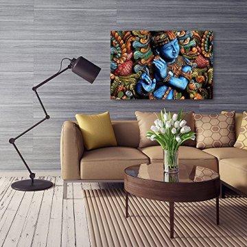Feeby Frames, Cuadro en lienzo, Cuadro impresión, Cuadro decoración, Canvas de una pieza, ESTATUA BUDA, ZEN, INDIA, ORIENTE, MULTICOLOR 6