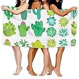 Toallas Decoradas Con Cactus y Plantas Suculentas