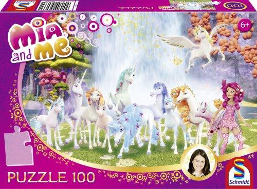 Schmidt Spiele 56033 - Puzzle Mia e Me, l'unicorno di Cantopia, 100 pz.