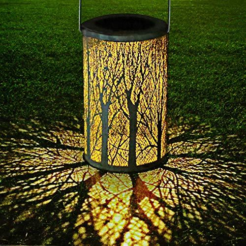 Yokunat Solar Laterne Lanterna solare per esterni lanterna IP44 impermeabile LED in metallo