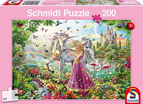 Schmidt Puzzle Fata nel Bosco Incantato 200 Pezzi, 56197
