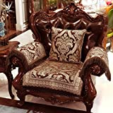 GIEODKWKM sofá Estampado Floral,Europeo Encaje Vintage Ante Antideslizante Invierno y Antideslizante Funda de sofá-B 65x65cm(26x26inch)