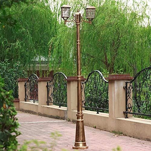 Led Solar Garden Path Light 2-Head Esterni Impermeabili Prato High Pole Street Lamp Impermeabile...