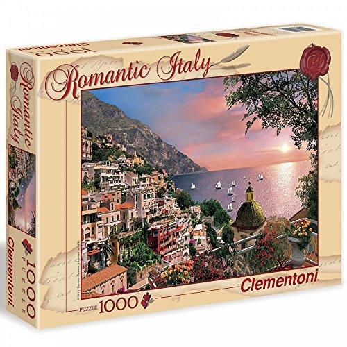 Clementoni 39221 - Puzzle Romantic Italy - Positano, 1000 Pezzi