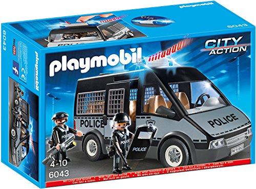 PLAYMOBIL 6043 - Polizei-Mannschaftswagen mit Licht und Sound