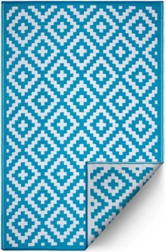 FH Home Tappeto/Tappeto in plastica Riciclata per Interni/Esterni - Reversibile - Resistente alle...