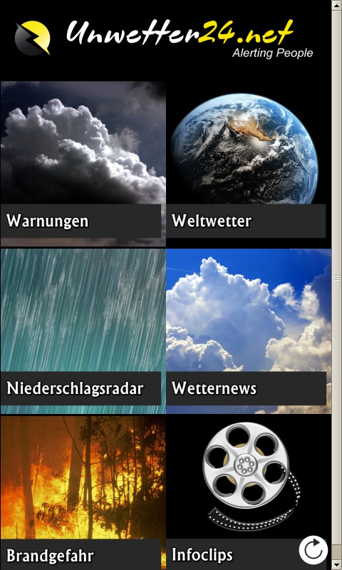 Unwetter24.net Screenshot