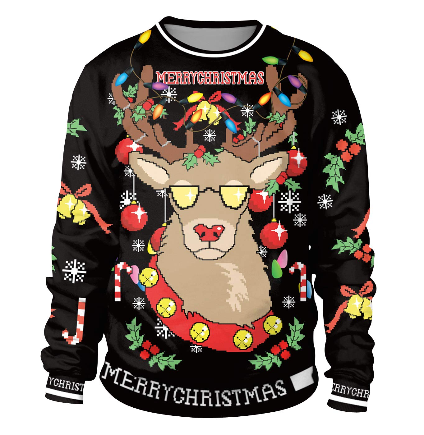 e17610cee Christmas Jumpers Womens Mens Funny Xmas Jumpers Sweatshirts Novelty ...