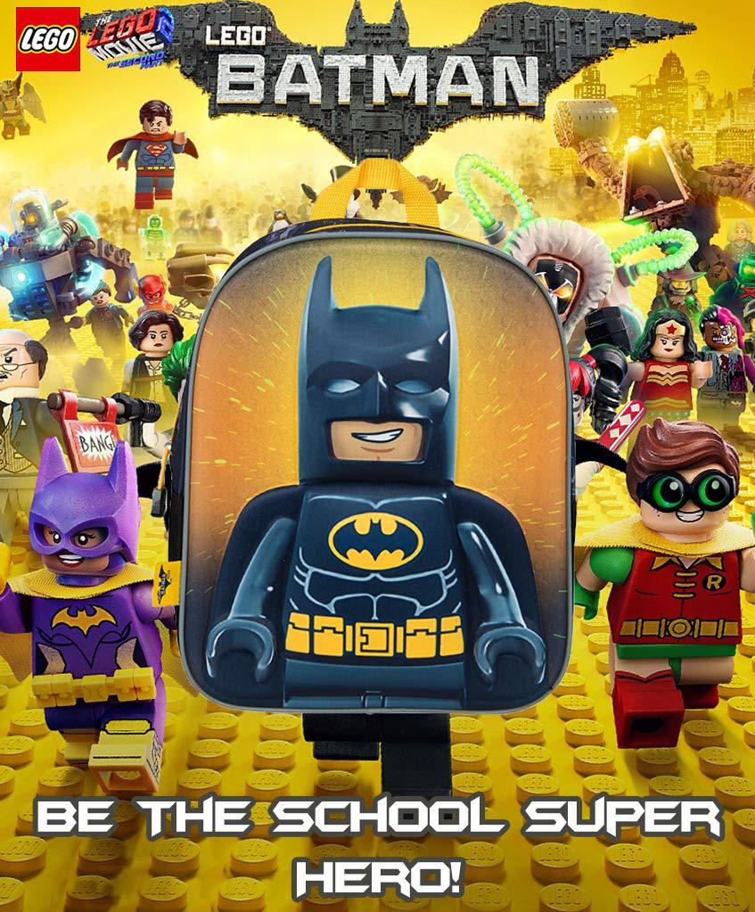 rivenditore all'ingrosso 06710 65363 Zainetto Asilo Bambino Lego Movie 2 Batman Zaino Elementari Supereroe con  Stampa 3D