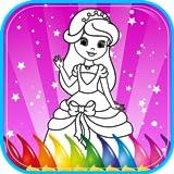 Princesa libro de colorante
