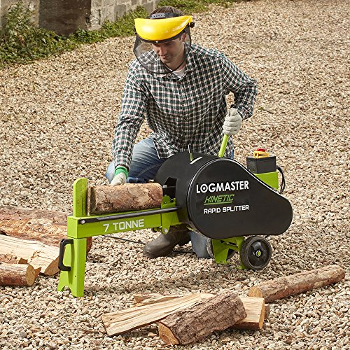 Whether you want to split kiln dried wood for immediate use in your log burner or chop green wood for storage, the Logmaster Electric 7 Ton Log Splitter does it all. This compact beast is very powerful with 7 tonnes of force and uses advanced flywheel kinetic technology for splitting logs much faster than most models. Besides, you will love the ease of use and quiet operation. The fitted wheels are additionally handy and the steel body itself doesn't demand any maintenance.